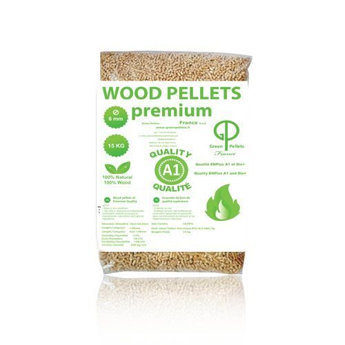 Pellets of ENPLUS et DIN+ quality in PE bags of 15 kg